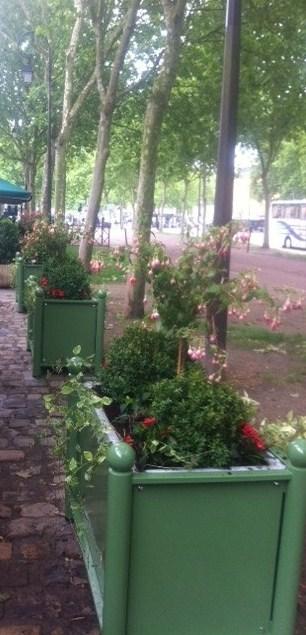 Jardini res fleuries d une terrasse de restaurant for Paysagiste versailles